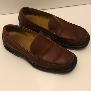 Men's Cole Haan rich brown leather loafer